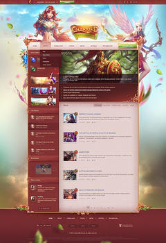 Perfect World Charmed Game Website Template